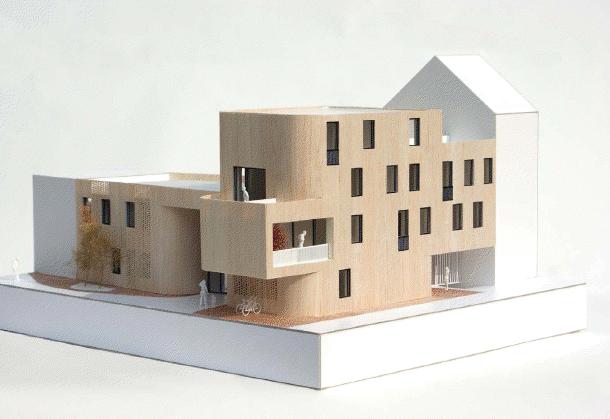 Construction d'une crèche passive et de logements sociaux passifs à Molenbeek