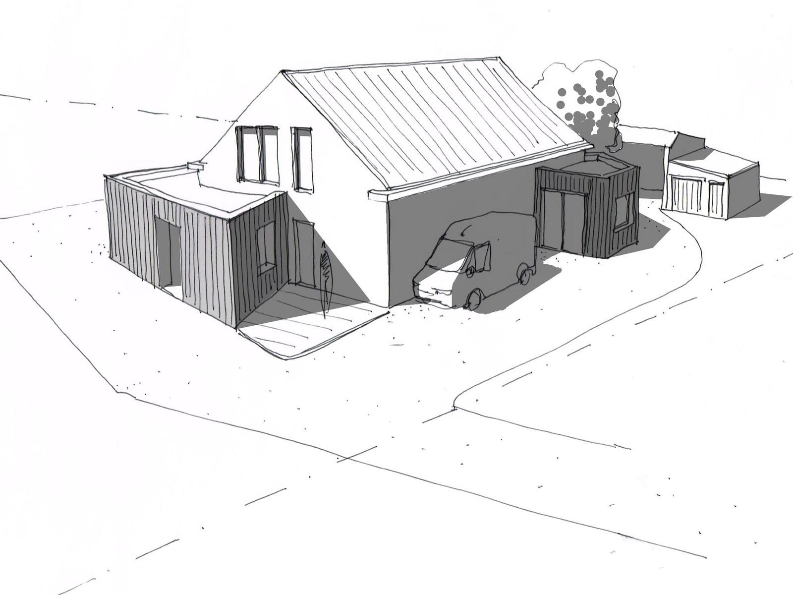 Réhabilitation d'une ferme bio et construction d'une habitation passive